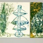 Monotipo sobre metal, 70 x 170 cm. Federico Bencini. 2008