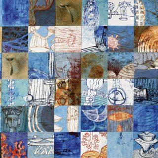 Monotipo sobre madera, 198 x 99 cm. Federico Bencini. 2009