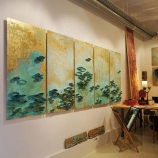 Fondo Latón, 350x140 cm. Raul Pernia 2013