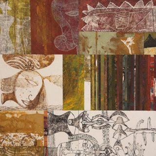 Monotipo sobre madera, 100 x 200 cm. Federico Bencini. 2010