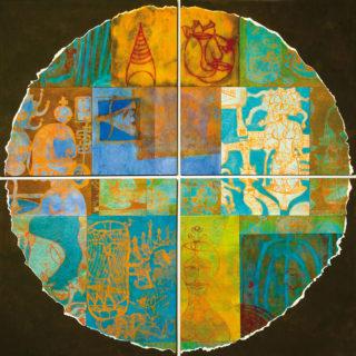 Monotipo sobre madera,  200 x 200 cm. Federico Bencini. 2009